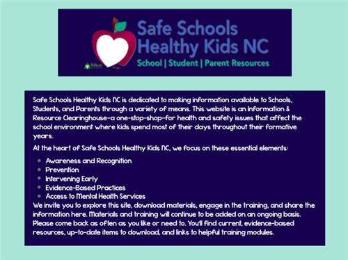 Have you heard of Safe Schools Healthy Kids NC?
