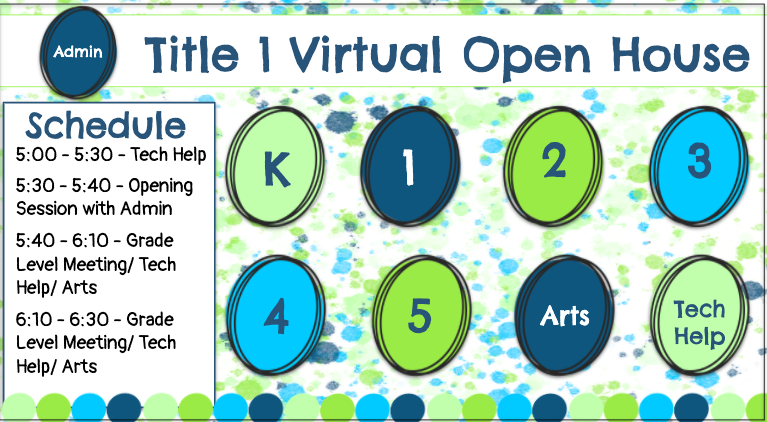 Virtual Title 1 Open House Zoom Links