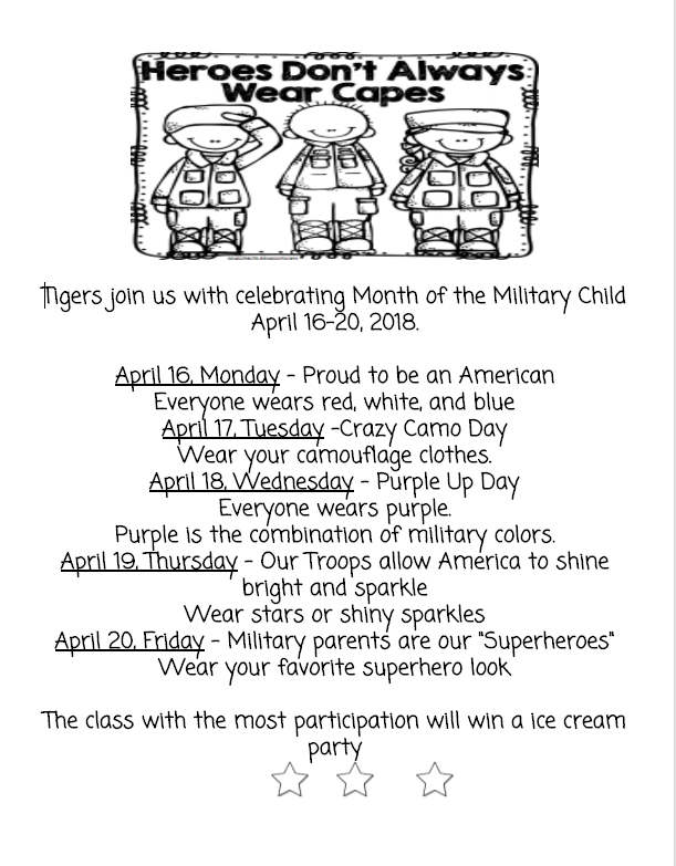 Month of Military Child Spirit Week