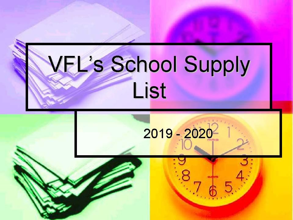 Supply List 2019-20