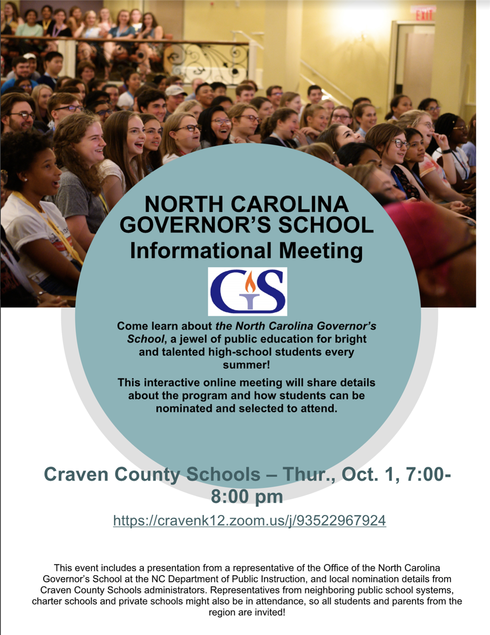 Governor's School Information Meeting