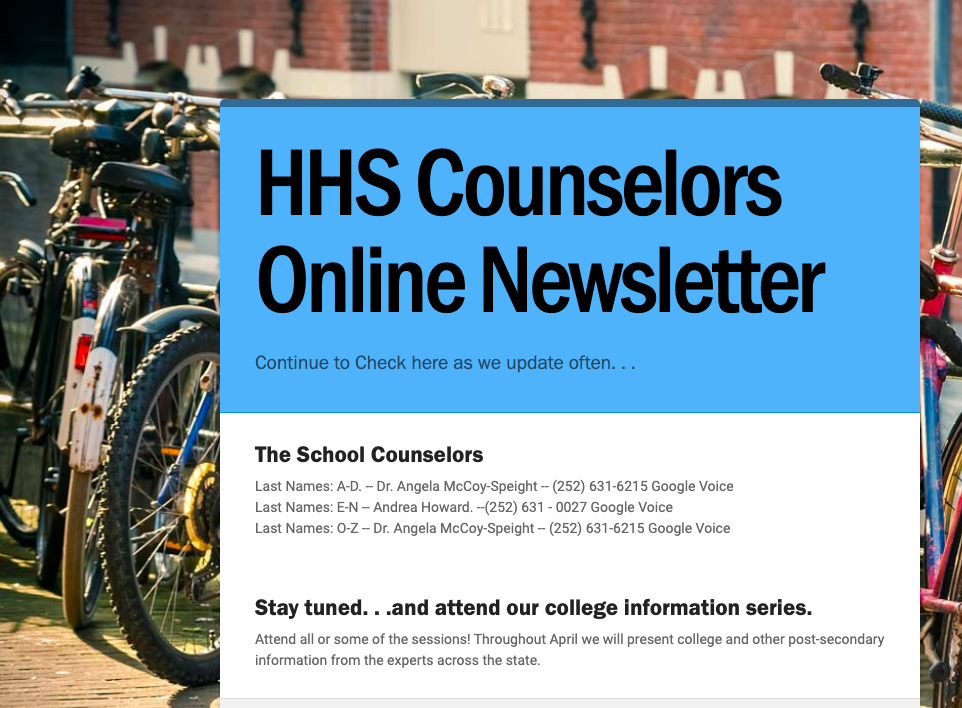 Counselor Newsletter