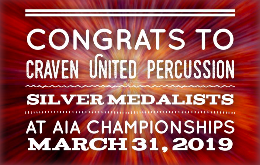 Craven United Indoor Percussion - Silver Medal