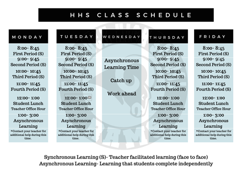 HHS Class Schedule